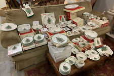 Huge 120 Piece Spode Christmas Tree China Dinnerware Serving Set - Excellent!