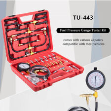 TU-443 Car Truck Fuel Pressure Gauge Engine Injection Pump Tester Kit w/ Adapter