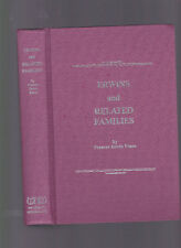 Erwins and Related Families (genealogy), Frances Erwin Evans, 1984 1st ed HC