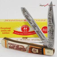 Kissing Crane 2018 THANKSGIVING Turkey 2 Blade Trapper Folding Pocket Knife