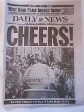 NEW YORK YANKEES TICKER TAPE PARADE NEW YORK DAILY NEWS NEWSPAPER 10/24/1998