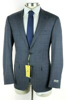 NWT $2350 CANALI 1934 Kei Unstructured Blue Check Wool Suit 48 R (fits 46 R)