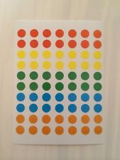 70 x  8mm ROUND COLOURED DOTS STICKERS CIRCLE CODE SPOT STICKY PLANNER LABELS