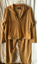 Mountain Lake Womens Plush Corduroy Excersize Suit Champagne Gold Sz Xl