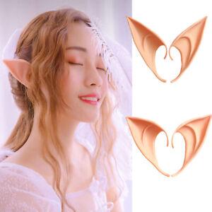 2 Pcs Latex Elf Ears Cosplay Wrap Fairy Goblin Ears Costume Halloween Props