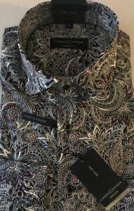 Casa Moda Comfort Fit Shirt, 15.3/4, Medium, Paisley Design, Cotton BNWT.