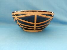 "Handthrown 7 5/8"" Pottery Vegetable Side Serving Bowl Dish Brown Tan Signed"