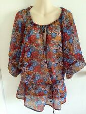ROXY Floral Blouse Top Size 12