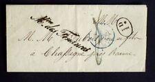 1839 France lettre Franchise Mre des Finances en Noir Signé Pagard AA39