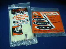 Two Vintage Duotone Electro Wipes  1 Hi Fi  Anti-Static Cloth with Brush