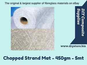 FIBREGLASS Chopped Strand Mat - CSM (450gram) - 5mtr pack (FREE FREIGHT)