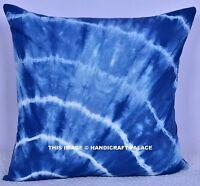 Tie Dye Ink Stripes European Pillow Case 40cm - Blue Throw Cushion Cover indigo