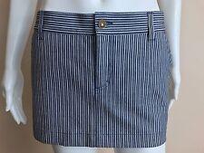 Gucci AUTH NEW Navy/White Striped Denim Mini Skirt Size 40 (Size 6)!