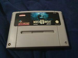 Mortal Kombat 2 II Super Nintendo SNES Game Cartridge pal free post tested