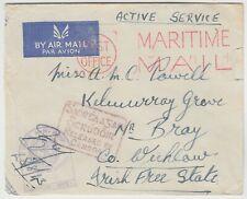 1944? MARITIME CENSORED on active cover to BRAY IRELAND with IRISH CENSOR mark