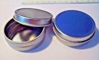 """8 Medium Silver Gift Tin Boxes holds 1 oz & 2"""" Diameter"""