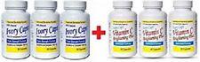 3 IVORY CAPS & 3 VITAMIN C GLUTATHIONE SKIN WHITENING 1500 MG THISTLE