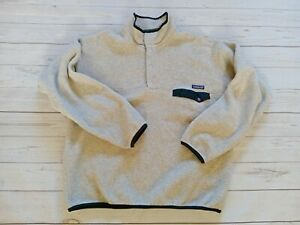 Mens Vintage 1997 Patagonia Synchilla T-Snap Made in USA Pullover Fleece Grey XL