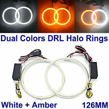 126MM LED HALO RINGS SMD White Amber Dual Color LED ANGEL EYE DRL Turning Signal