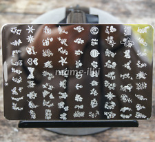Large Nail Art Image Stamp Template Plates Polish Stamping Manicure Image (D8)