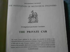1960 THE PRIVATE CAR AUTOMOBILE CROMPTON-LANCHESTER 12 LECTURES LONDON ENGLAND