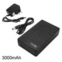 5V/12V 2In1 USB Rechargeable 3000mAh Li-ion Battery Pack With US Adapter LD1887