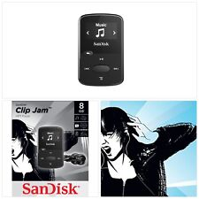 Sandisk 8Gb Clip Jam Mp3 Player Black Deep Sound Quality Built In Micro Sd Card