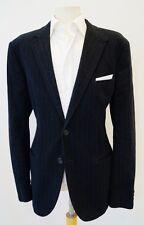 JOSEPH HOMME Italy Black Pinstripe Brushed Cotton Sports Jacket Blazer 44