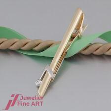 QUINN Krawattenklammer - Krawattenhalter - 1 Brillant 0,03ct - 14K/585 Gold