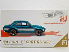 '70 Ford Escort RS1600 (2019) Hot Wheels id Limited Run Collectible Series 1 New