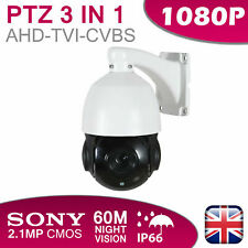 PTZ CCTV CAMERA 3 IN 1 AHD TVI CVBS 60M NIGHT VISION OUTDOOR DOME 18X ZOOM UK