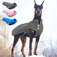 Large Dog Coat Fleece Pet Warm Jacket Reflective Doggie Clothes for Winter S-5XL