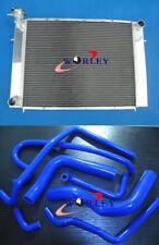For HOLDEN Commodore VG VL VN VP VR VS V8 Aluminum Radiator & BLU Silicone Hose