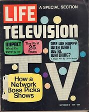 LIFE September 10,1971 TV the First 25 Years / Impact on Society / Networks / Bo