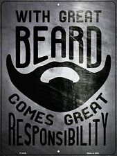 With Great Beard Metal Novelty Parking Sign