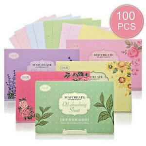 100 Sheets Make Up Oil Control Oil-Absorbing Blotting Face Clean Paper WE