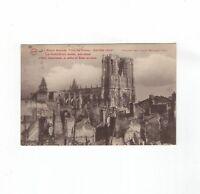 AK Ansichtskarte Reims / La Cathedrale - 1919