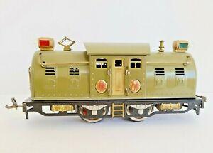 Lionel Lines 254E Electric Locomotive, Prewar, Near Mint, Olive Green, 1934