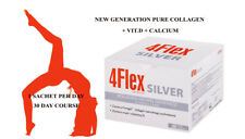 4 Flex SILVER 30 sachets COLLAGEN HYDROLYZATE Fortigel® +VIT D+ CALCIUM