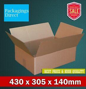 Mailing Box 430 x 305 x 140mm Shipping Carton Brown RSC BX4 B4 Size