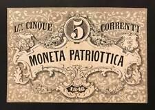 venezia 5 lire moneta patriottica 1848 LOTTO 452