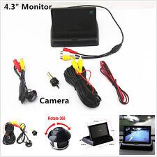 "360° Rotatable Autos Reverse Camera & 4.3"" TFT LCD Foldable Monitor Screen Kits"