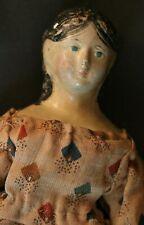 Antique Papier Mache Doll 8 In Antique Clothing Antique German Papier Mache Doll