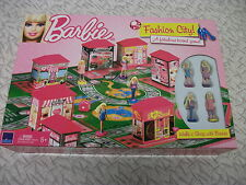 Barbie Fashion City Fabulous Board Game 2010 Complete Walk 'n' Shop with Barbie
