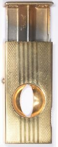 Donatus Cigar V shape cutter button release Solingen West Germany gold plated