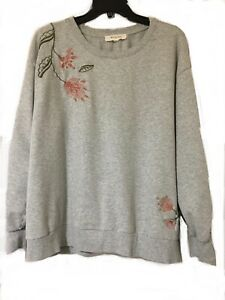 Two By Vince Camuto Gray Sweatshirt 1X 2X