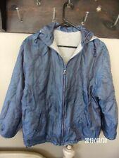 CS Signature jacket reversible with hood, shiny blue and gray, small