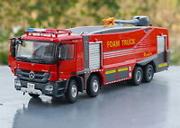 1/50 Scale Mercedes-Benz ACTROS China JieDa Foam City Fire Truck Diecast Car