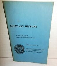 BOOK Pamphlet Military History by W Millis Service Center for HistoryTeachers