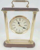 Vtg Seth Thomas Anberly Mid Century Modern Mantle Brass Table Clock Talley Japan